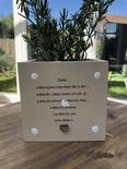 Personalised Shabby Chic Plant Pot Special Best Friend gift ANY NAMES Friends - 233309467419